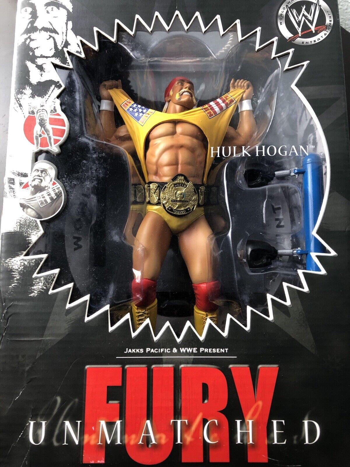 WWE Hulk Hogan inégalée Fury Platinum Wrestling Figure  Jakks Pacific nouveau in box RARE  venez choisir votre propre style sportif