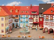 Faller 130495, 2 Kleinstadt-Häuser mit Erker, Stadthaus,neu, OVP; Haus, Wohnhaus
