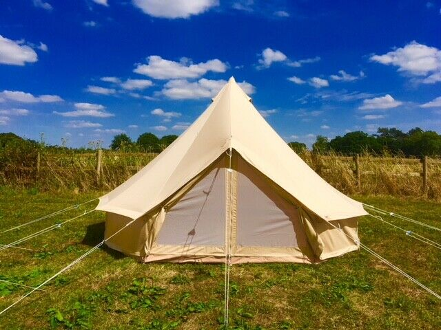 4m Ultimate top of the range bell tent with sewn in fly door