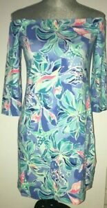 7c2993ae2eccc8 Image is loading LILLY-PULITZER-Laurana-Dress-CELESTIAL-SEAS-Bennet-Blue-
