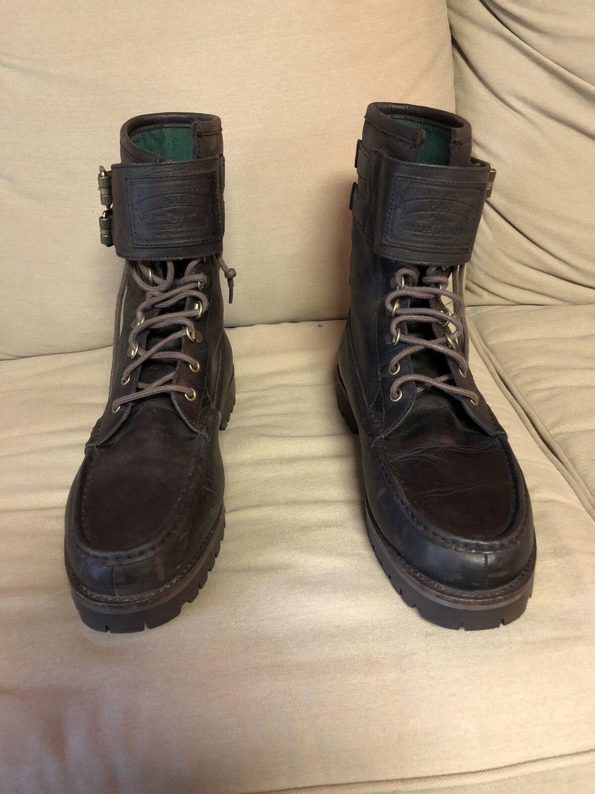 Ralph Lauren Polo Wolcott Brown Boots 12D