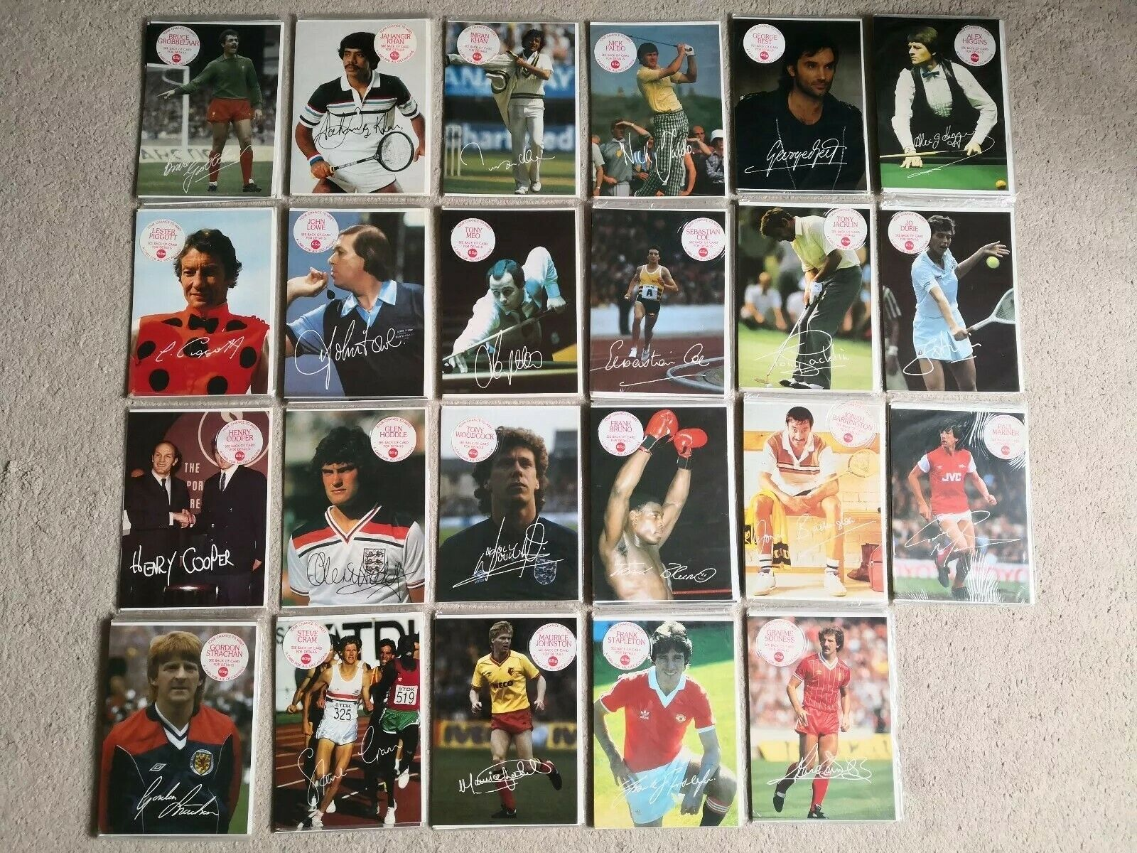 69 x Vintage Sealed Sports Greeting Cards  Your Chance To Meet  Bundle 1980s