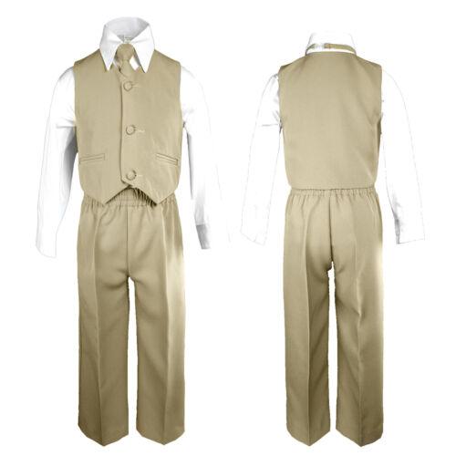 4pc Bébé Garçon /& Toddler Mariage Pâques formelle Parti Couleur gilet costume Set Sm-20