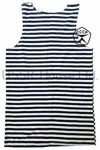 Soviet-Russian-USSR-Army-NAVY-Style-Striped-Sailor-T-SHIRT-TELNYASHKA-VEST-Top