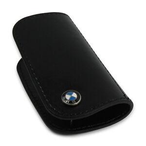 BMW Leather Key Case - Black / Black 80232149936