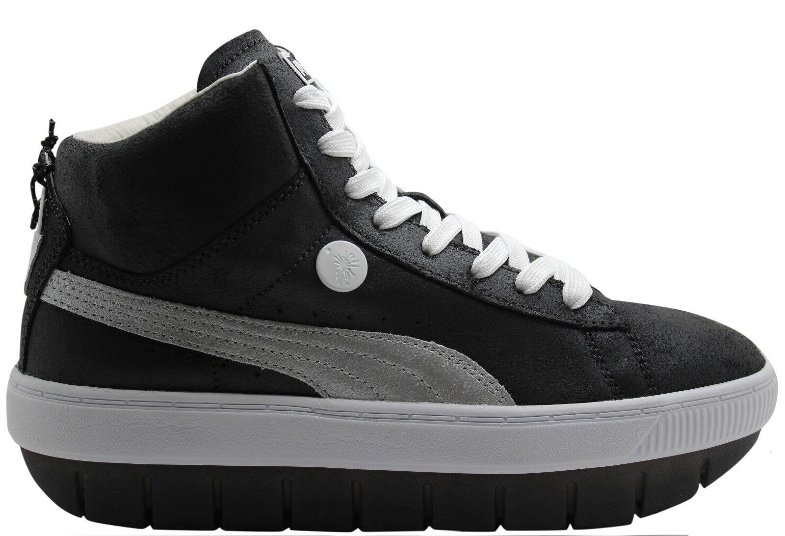 Zapatos promocionales para hombres y mujeres Puma Mihara Yasuhiro MY 82 Womens Trainers Black Leather 357085 01 P2