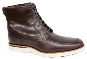 Timberland-Preston-Hill-Mens-6-Inch-Side-Zip-Brown-Boots-A16RX-D63
