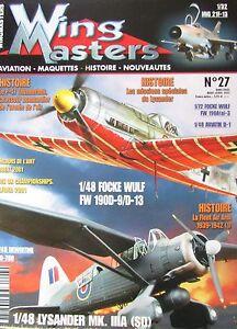 Modellino-Aviazione-Militare-WW2-Rivista-Wing-Masters-N-27-di-2002-Aerei-War