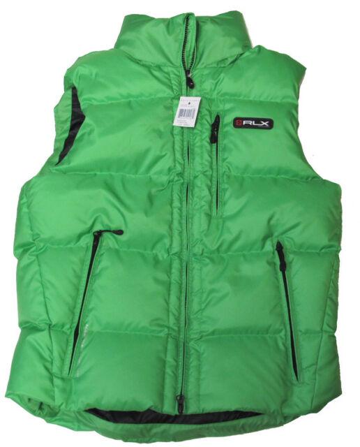 Polo Ralph Lauren RLX Mens Solid Down Filled Feather Vest Jacket S M L XL 2XL