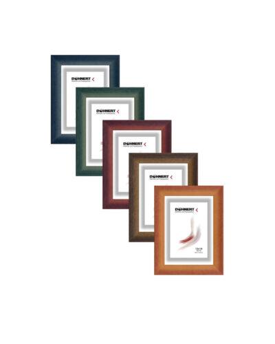 Bilderrahmen Holz mit 2 Glasarten Moderne Leiste 204 in Rot Grün Blau Braun