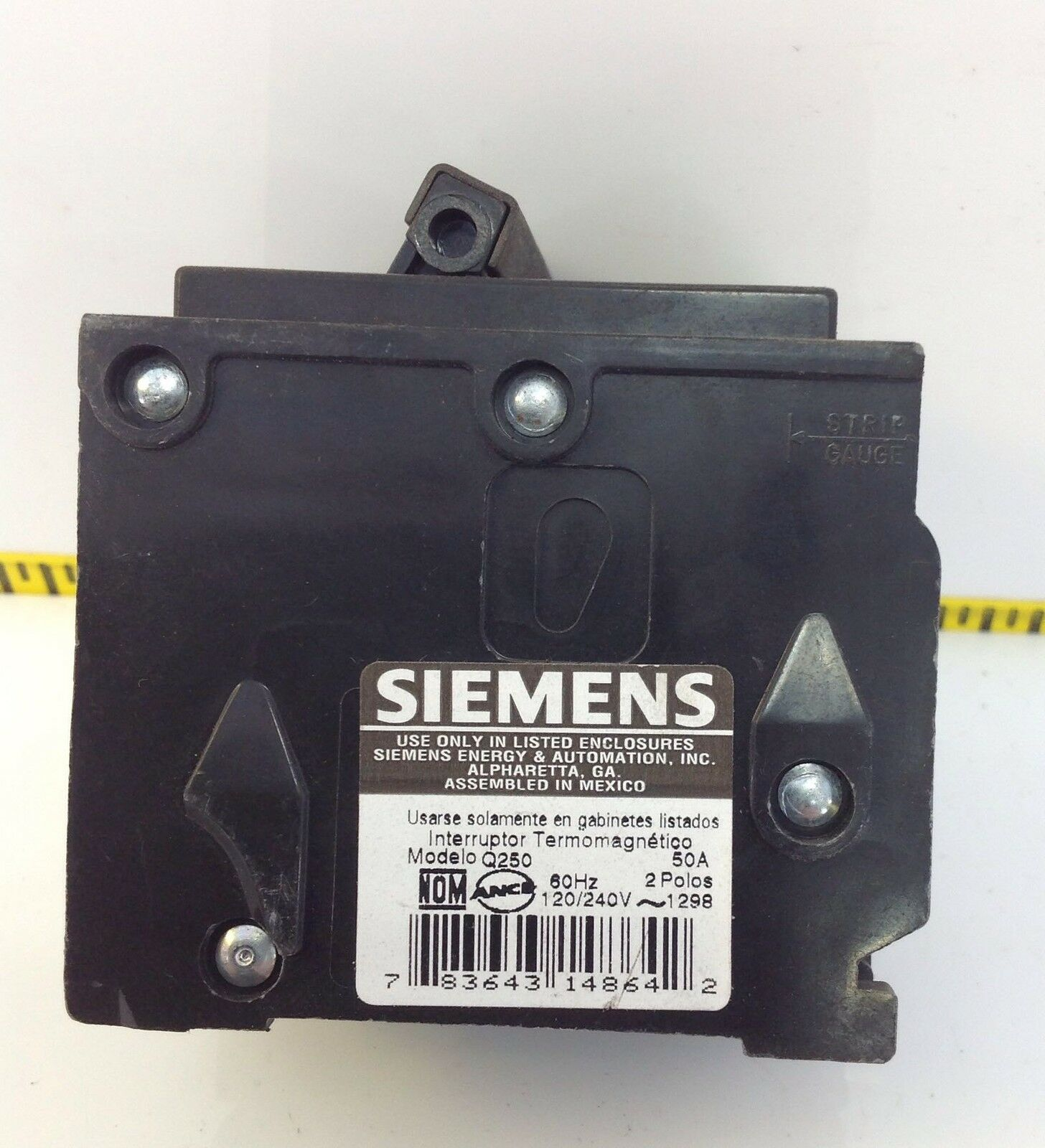 Siemens Q250 2 Pole Circuit Breaker 50 Amps Ebay Used Breakers Ite E43b060 60 Amp 3