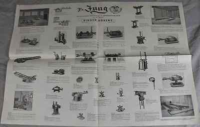 Jung Zubehör Spezialfabrik Fr Werbeblatt Pichereianlagen 1950 //S239 Bingen