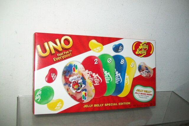JELLY BELLY BEAN SHAPED UNO CARD GAME