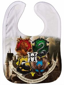 Image Is Loading Hogwarts Baby Bib 034 House Crests 034 Harry