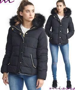 NEW-WOMENS-LADIES-QUILTED-WINTER-COAT-PUFFER-FUR-COLLAR-HOODED-JACKET-PARKA-CORI