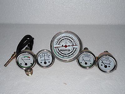 Oil Pr D17 Gas Allis Chalmers Tachometer+Temp Fuel+Amp Gauge Set-D14 D15