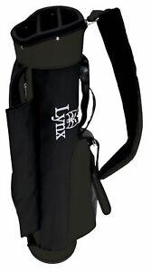 NEW-Lynx-Golf-Retro-Carry-Bag-ALL-Black