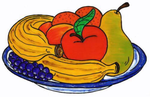 043 Fensterbild Window Color Bild Fensterfolie Küche Obst Obstteller