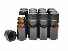Ljdeals 5ml Amber Essential Oil Bottle With Euro Dropper Black Cap Glass Bott
