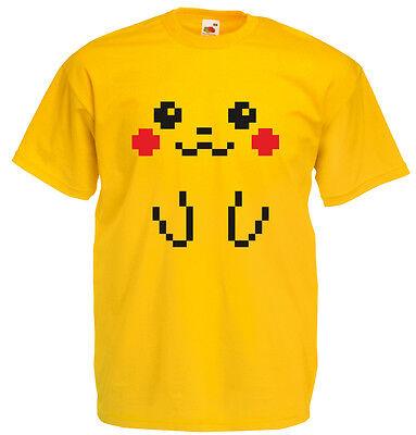 8 Bit Pikachu, Mens Printed T-Shirt