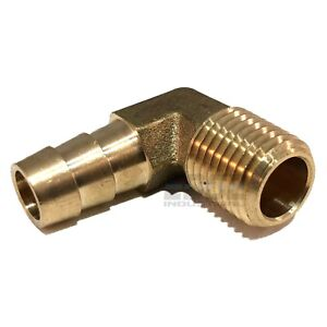 """BRASS Elbow Fitting 90 Degree 3//8/"""" Female NPT Pipe Thread Tubing Air Fuel Water"""