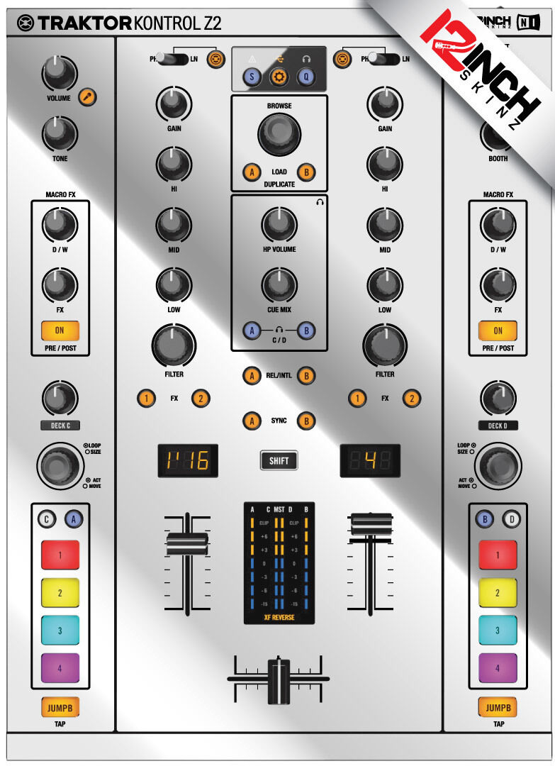 Native Instruments Z2 Skin mirror Silber