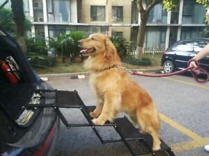 Pet Ramp For Car >> Details About Pet Dog Car Step Stairs Accordion Metal Frame Folding Pet Ramp Lightweight
