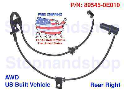 New ABS Speed Sensor Rear Right /& Rear Left fits for Lexus RX330 RX350