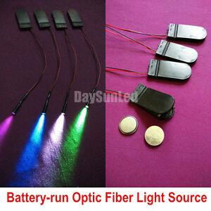 2pcs Battery Run Mini Optic Fiber Light Illuminator 0 1w