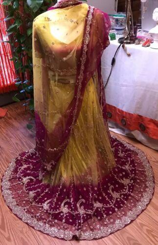Beautiful Indian Lehenga Flare Sequins Skirt and 2