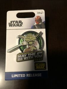 Disney-Star-Wars-May-The-4th-Be-With-You-Yoda-Pin-2020-LR-New-In-Hand-Clone-Wars