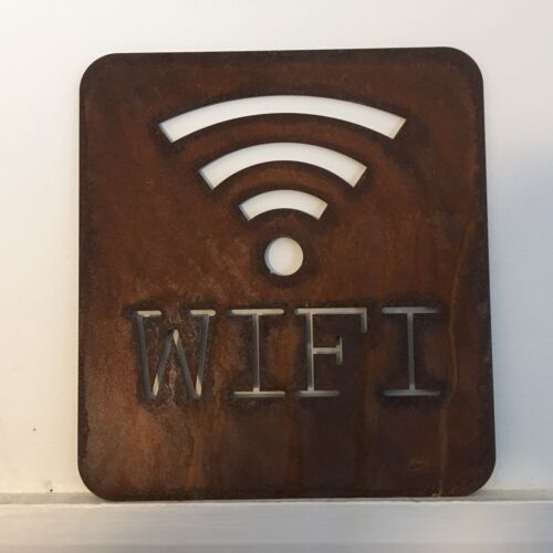 Rusty WIFI Lettering Letters Sign Metal Shop Home bar Pub Cafe Bistro Barbers