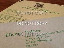 Personalised Harry Potter Hogwarts Wizard Acceptance Letter & Train Ticket Gift