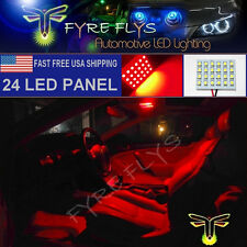 1x Super Bright Red 24 LED Panel Light for Dome, Map, Cargo, Trunk lights #24PR