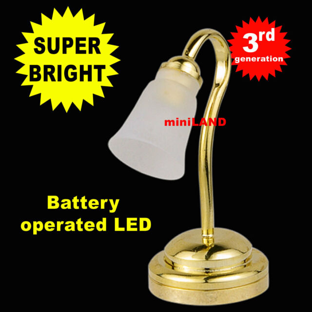 Tulip desk SUPER bright battery operated LED LAMP Dollhouse miniature light