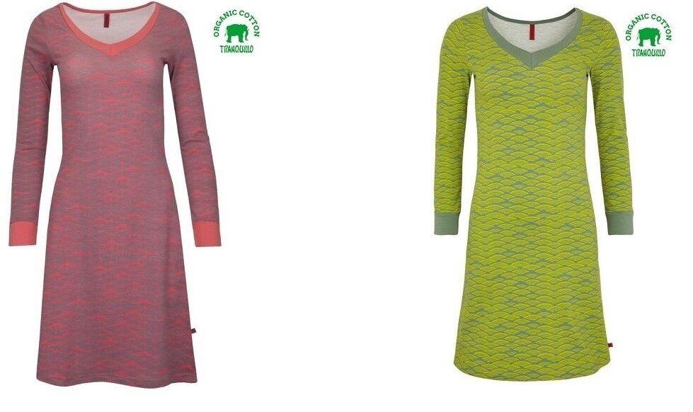 Tranquillo Kleid Mala rot grün organische Baumwolle Bio blau 38 40 Stretch Dress