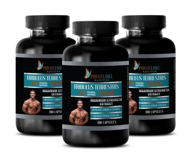 male enhancment TRIBULUS TERRESTRIS 1000 testosterone booster for men - 300 Caps for sale online