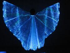 Luminous Fiber Optic Costume Wings RGB LED Light up Belly Dance Isis Angel Wing