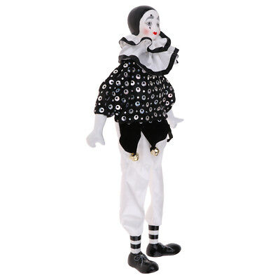 Collections Handmade Porcelain Clown Doll Ceramic Clown Dolls Decoration #3