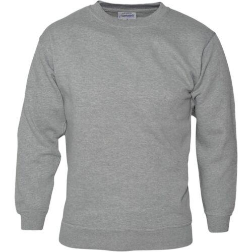 Da Uomo Plain Felpa Maglia Maglione Pullover Pullover Lavoro Casual Leisure Top
