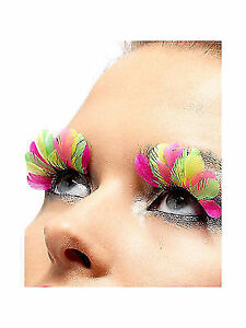 4fcd1b9da38 Neon Feather False Eyelashes With Glue Included 1980 Retro Quality ...