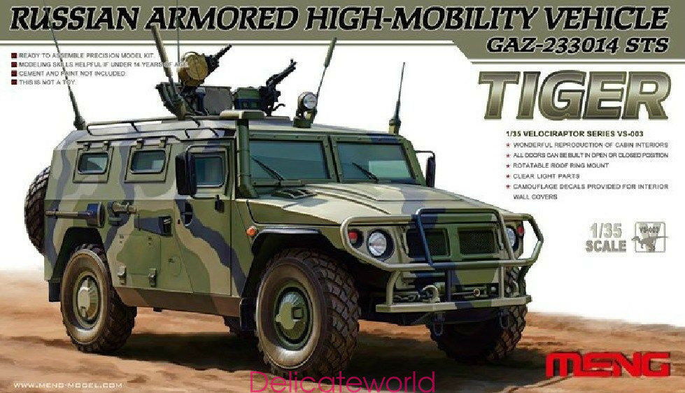 Meng Model 1 35 VS-003 High-Mobility Vehicle GAZ-233014 STS Tiger