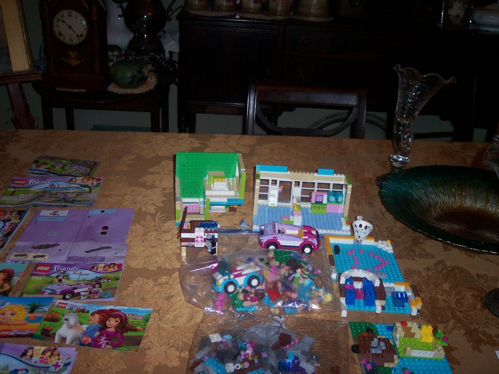 3000 Plus LEGO PIECES & 9 Lego Friend's & autres brochures bon marché VG cond