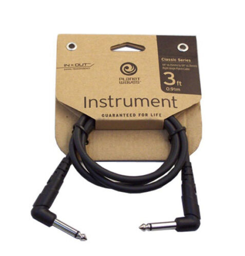 Planet Waves Classic Series Patch Cable Right-Angle Plugs 3/' #PW-CGTPRA-03