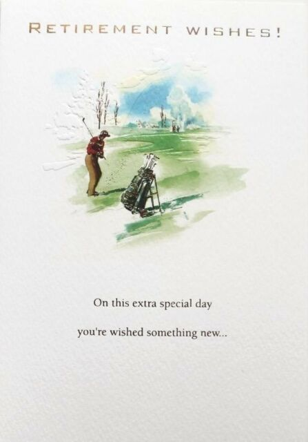 Retirement greetings cards your retiring best wishes greeting card retirement wishes greeting card golf theme suitable for male or female new m4hsunfo