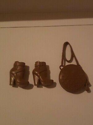 ✿ ܓ Fits Barbie Doll Shoes Winx Brown Boots ✿ ܓ