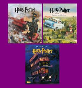 Harry Potter Band 1 2 3 Im Set Vierfarbig Illustrierte