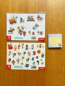 Miitopia Nintendo Switch magnets stickers sticky notes NO GAME