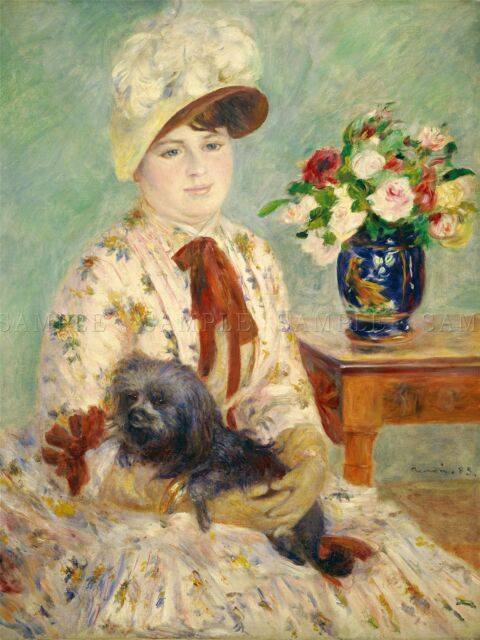 AUGUSTE RENOIR FRENCH VINTAGERS OLD ART PAINTING POSTER PRINT BB4905A