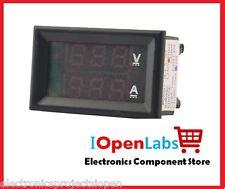 DIGITAL VOLTMETER AMMETER DC 0-100V 10A DUAL LED RED BLUE MONITOR LCD PANEL